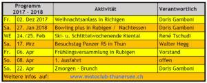 Winterprogramm 2017 - 2018