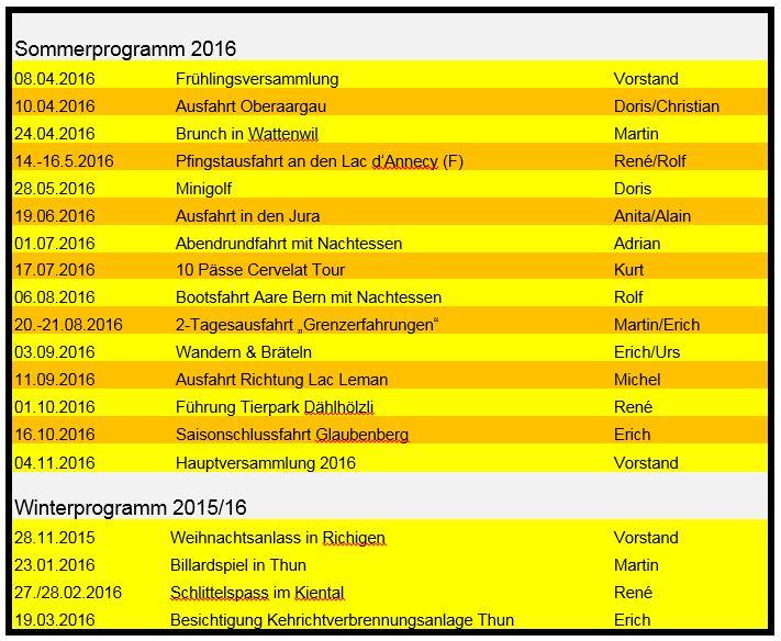 Jahresprogramm 2016 NEU