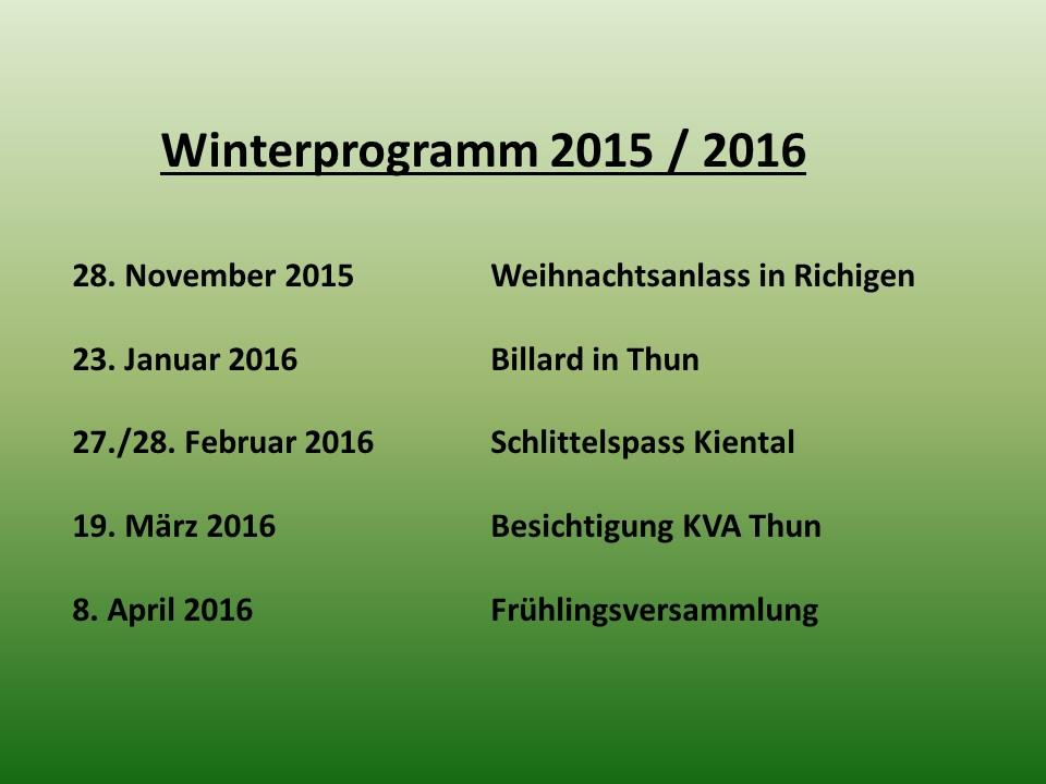 Winterprogramm 2015/16