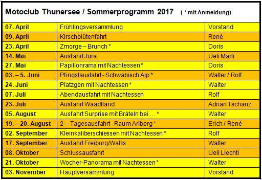 Sommerprogramm Homepage