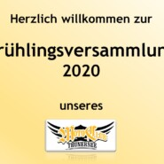Frühlingsversammlung, 3. April 2020