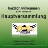 Hauptversammlung 20156. November 2015