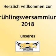 Frühlingsversammlung 2018