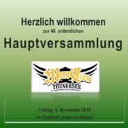 Hauptversammlung 2016 4. November 2016