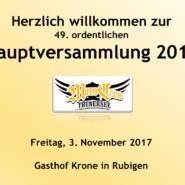 49. Hauptversammlung 3. November 2017
