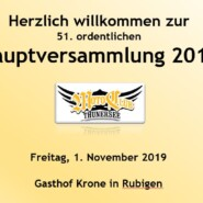 51. Hauptversammlung  1. November 2019
