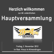 Hauptversammlung 2012 2. November 2012