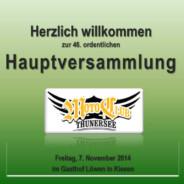 Hauptversammlung 20147. November 2014